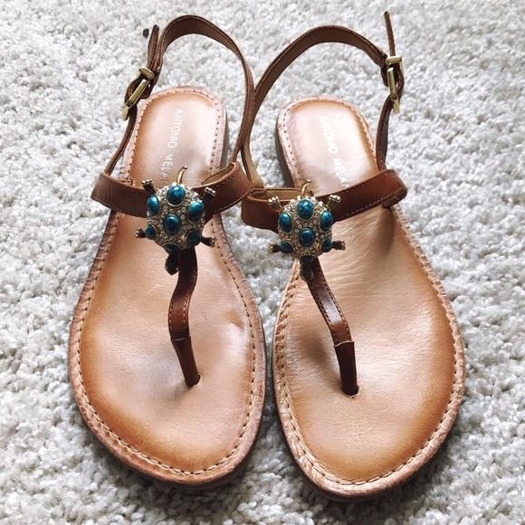 880095b74cf7 ANTONIO MELANI Shoes - Antonio Melani Jewel Encrusted Turtle Sandals